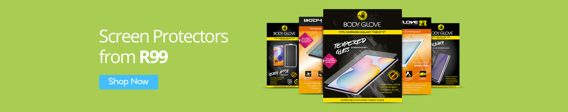 Screen Protectors from R99 only on MondoShop.co.za